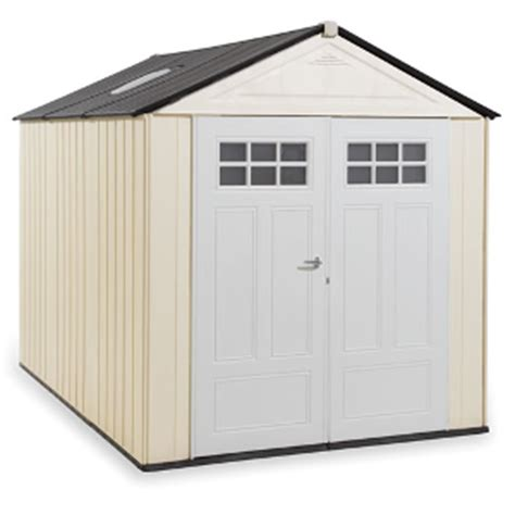Rubbermaid Outdoor Storage Shed Accessories by Rubbermaid Horizontal Storage Shed 32 Cubic