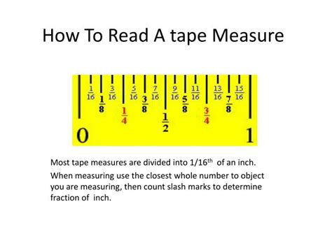 how to read a measure ppt how to read a tape measure powerpoint presentation id 5335055