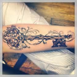 Wooden Skeleton Key Tattoo