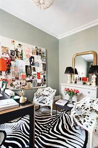 Office, Decorating, Ideas, To, Steal, From, Jenny, Wolf, U2019s, Workspace, Photos