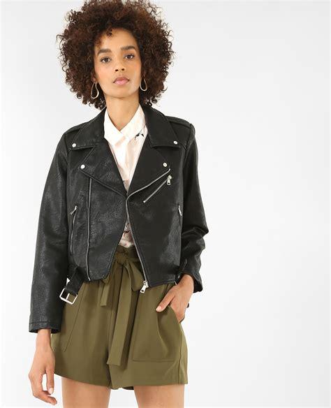 veste en simili cuir veste biker en simili cuir noir 323134899a08 pimkie
