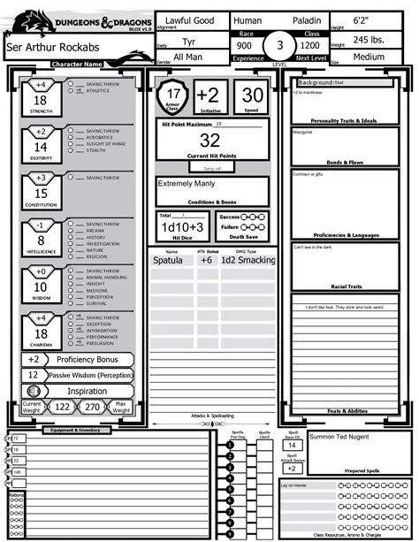 Blox v1.0 Custom 5e Character Sheet : dndnext