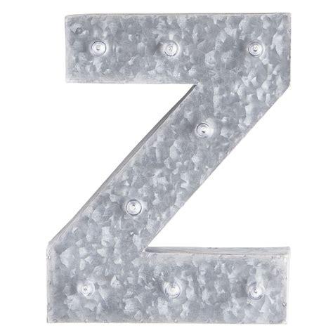 led galvanized metal monogram letter  pier