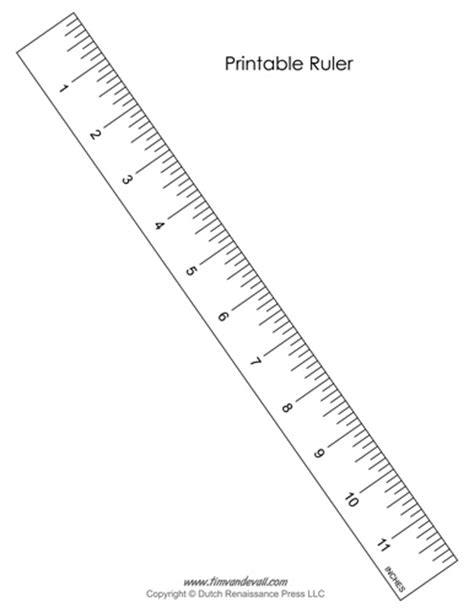 Printable Ruler Pdf For Students And Teachers Tim's