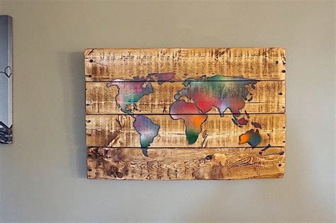 the world map pallet reclaimed wood made beautiful