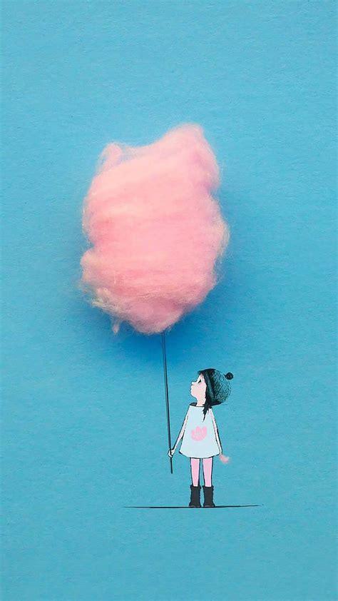 suesse kleine maedchen rosa zuckerwatte rosa suess zuckerwatte