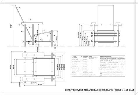 la chaise de rietveld plan échelle 1 10 de la chaise de rietveld produits