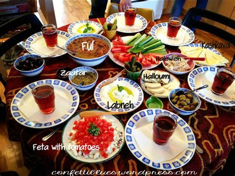 How To Put Together A Lebanese Breakfast ? My World of CONFETTI