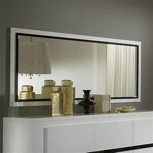 Miroir Rectangulaire Mural : grand miroir mural blanc laque ~ Teatrodelosmanantiales.com Idées de Décoration
