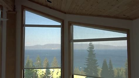 angle top windows  motorized roller screen shades