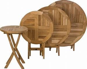 Gartenmöbel Tisch Rund : zebra klapptisch poker 10 gr en teakholz gartenm bel art jardin ~ Indierocktalk.com Haus und Dekorationen