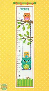 Owl Growth Chart Cross Stitch Dimensions Baby Hugs Owl Growth Chart Cross Stitch