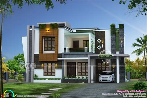 sq ft awesome contemporary kerala home design kerala house design house front design
