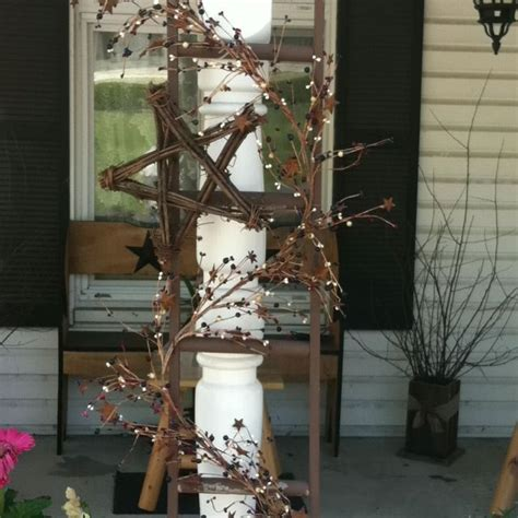 Country Ladders Made Decorate The Post Front