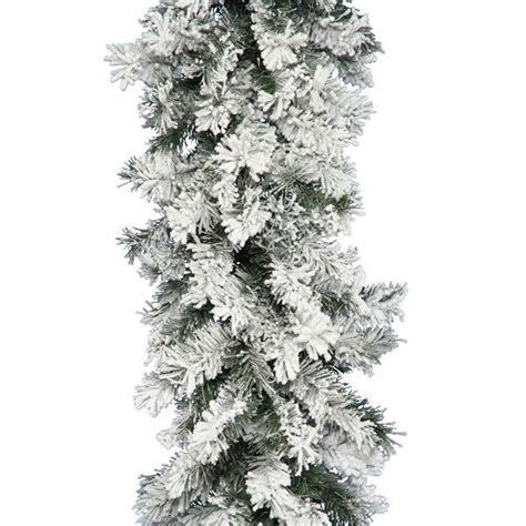 vickerman a806315 9 ft pvc christmas garland flocked