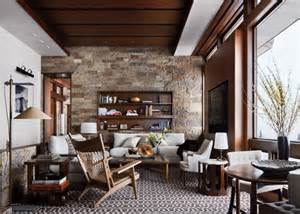 Rustic Livingroom Rustic Living Room By Studio Sofield By Architectural Digest Ad Designfile Home Decorating