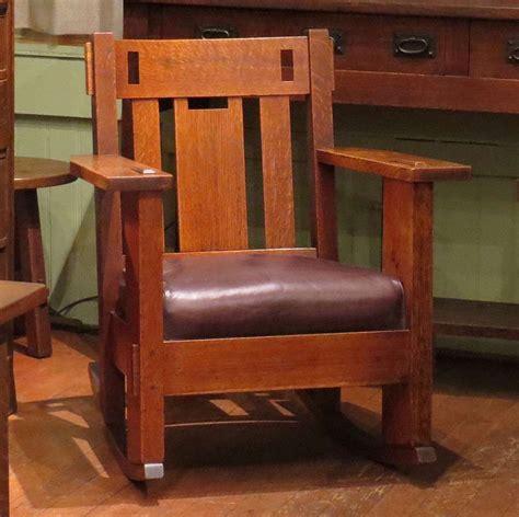 charles stickley rocking chair charles stickley cutout rocker california historical design