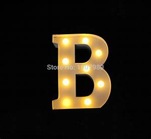 9quot white metal letters light led alphabet marquee sign With metal wall letters with lights