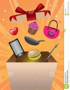 Box Surprise Femme : shopping gift box surprise vector illustration stock vector image 55879448 ~ Preciouscoupons.com Idées de Décoration