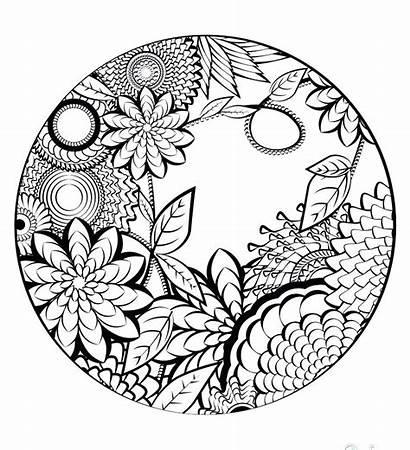 Coloring Pages Adults Mandala Printable Mandalas Star