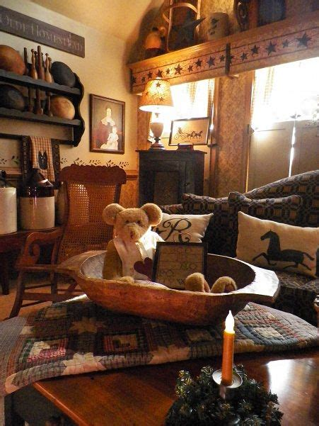 Minus The Teddy Room Living Rustic Farmhouse