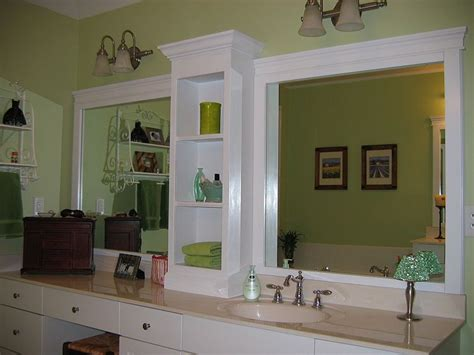 bathroom mirror trim ideas changing a large bathroom mirror without removing the