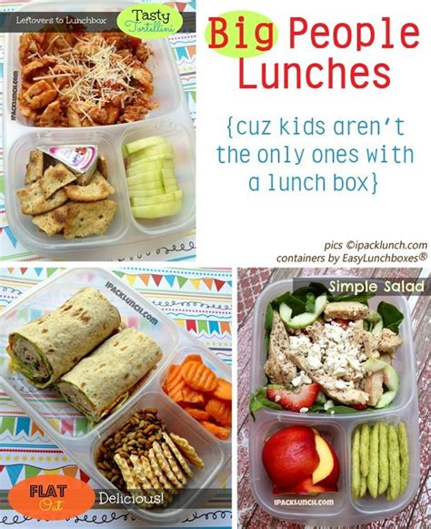 ideas for lunches ideas for packing adult lunches