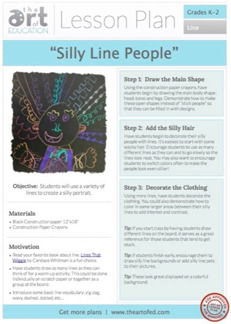 lesson plan  silly  people  art  ed