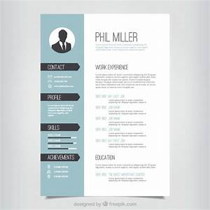 Modele de cv elegante telecharger des vecteurs gratuitement for Classy resume templates