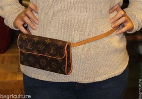 louis vuitton brown florentine fanny pack bum bag monogram waist pouch belt tradesy