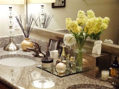 Bathroom Counter Decor Ideas by Girlie Bathroom Counter Decor Bathroom Decor