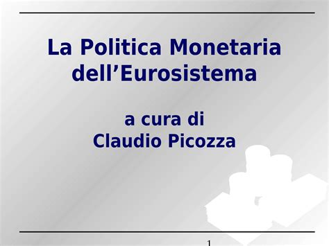 dispense economia politica politica monetaria dell eurosistema dispense