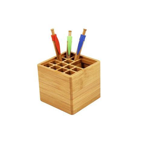 pot a crayon personnalisable pot 224 crayons roots cadeau d entreprise 233 cologique en bambou