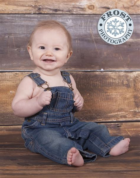 month baby boy overalls portrait google search