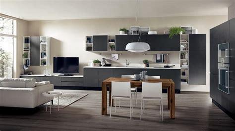 salon cuisine design cuisine ouverte sur salon de design italien moderne