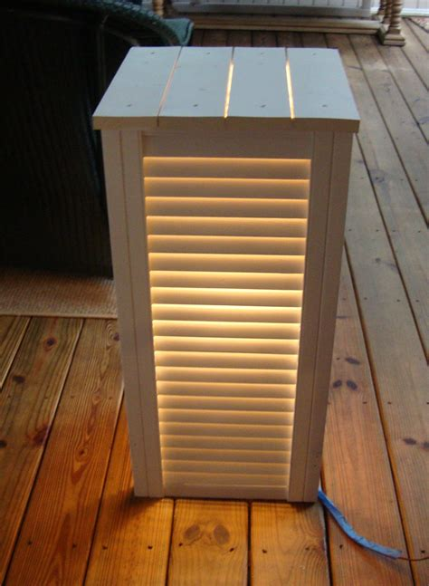 lighted side table  shutters recycled decor decor