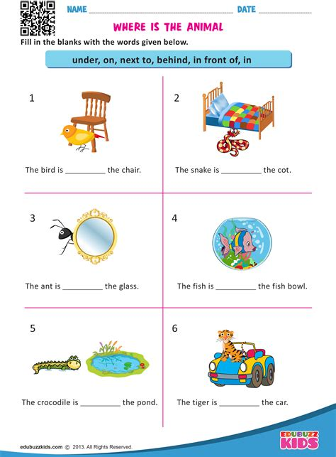 free printable prepositions worksheets for kindergarten that allow your kids or students to