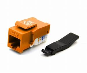Cat6 Keystone Jack  Toolless Type  Orange