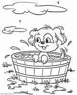 Coloring Pages Dog Dogs Puppy Printable Bucket Animal Animals Print Bath Prairie Taking Pup Colouring Baby Sheets Printables Raisingourkids Colour sketch template