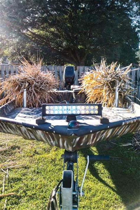 Gheenoe Duck Boat Blind by How To Create A Killer Boat Blind On A Budget Wildfowl