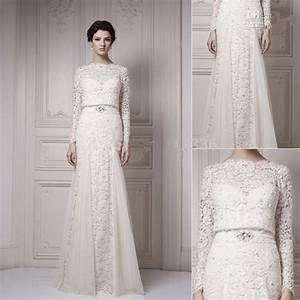 romantic limited 2016 new vintage wedding dresses with With long sleeve vintage wedding dresses