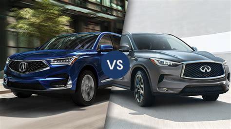 Middletown Acura by Comparison 2019 Acura Rdx Vs 2019 Infiniti Qx50