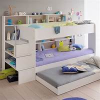 kid bunk beds Parisot Kids White Bibop Bunk Bed With Reversible Panels ...