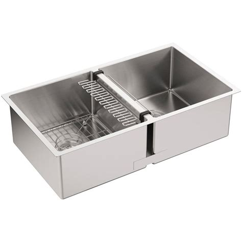stainless steel kitchen sinks undermount newage products stainless steel classic 32 in sink 8279