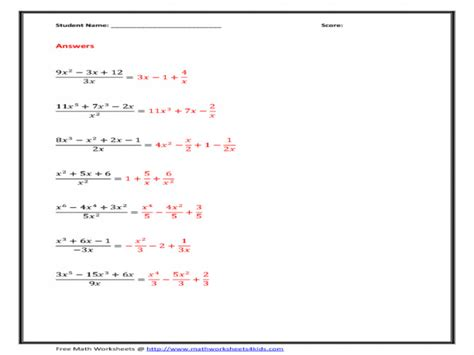 polynomials worksheet homeschooldressage