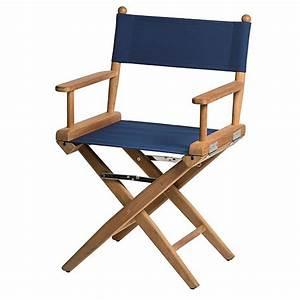 Sedia regista con seduta in tela Blu Marine AzurInoxMarine