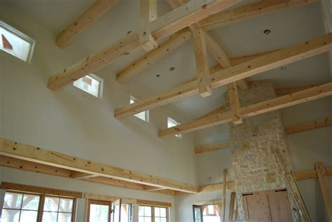 Kitchen With Vaulted Ceilings Ideas - lake and garden wood craft ceiling beams cabinets
