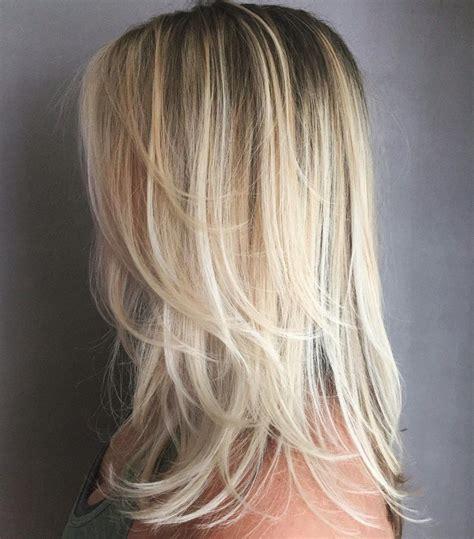 layered hairstyles      thinking