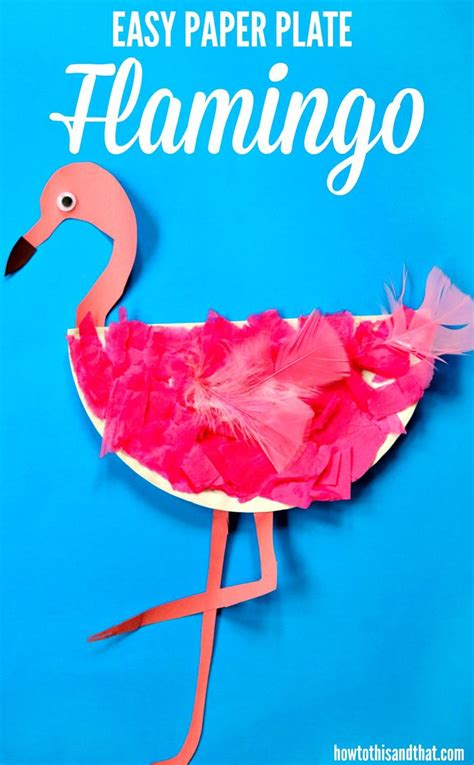 easy paper plate flamingo craft requires
