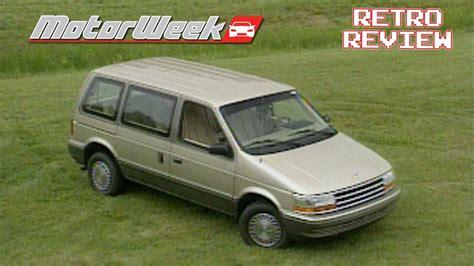 Chrysler Mini by 1991 Chrysler Mini Vans Retro Review